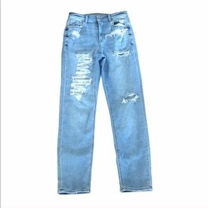 American Eagle Mom jeans distressed size 4 long